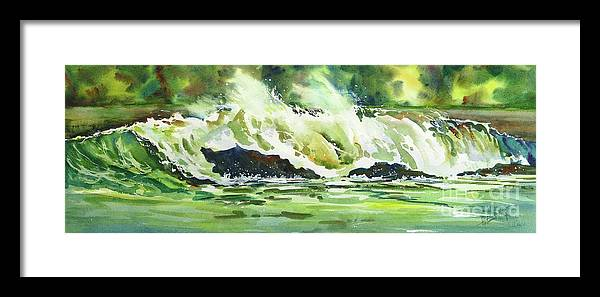 Surf Framed Print featuring the painting Surfers Dream by Mohamed Hirji
