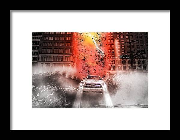 New York City Framed Print featuring the photograph Surfing 5th Avenue by Barry C Donovan