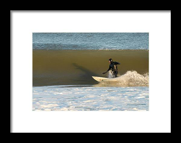 Surfer Art Framed Print featuring the photograph Surfing 77 by Joyce StJames