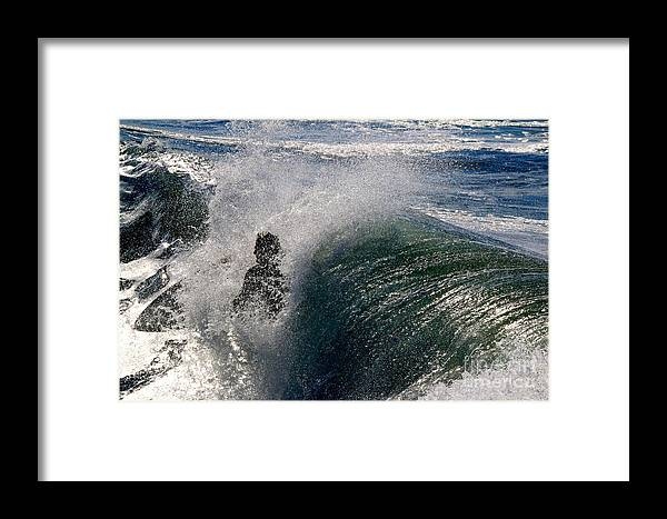 Surf Framed Print featuring the photograph Surfing Into The Sun by Craig Corwin