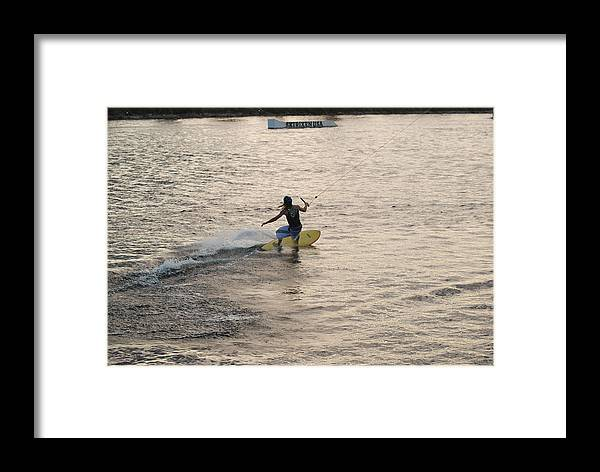 Sun Framed Print featuring the photograph Surfing by Rob Hans