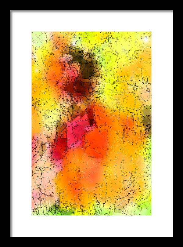 Digital Art Framed Print featuring the digital art Surfing The Sun by Tom Romeo