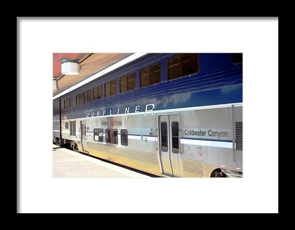 Train Framed Print featuring the photograph Surfliner 0622 by Edward Ruth