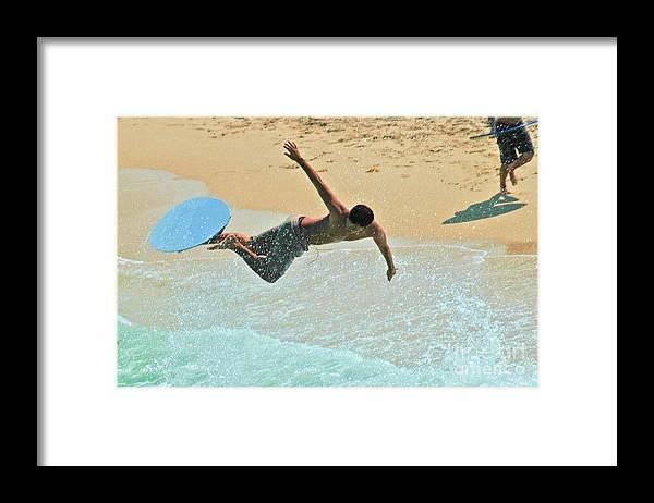Surfer Framed Print featuring the photograph Surfs Up by Allan Einhorn