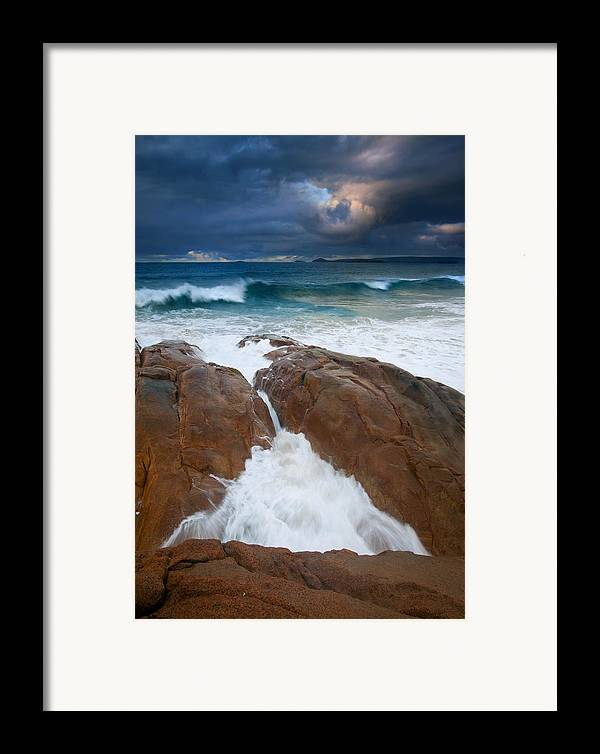 Waves Framed Print featuring the photograph Surfs Up by Mike Dawson