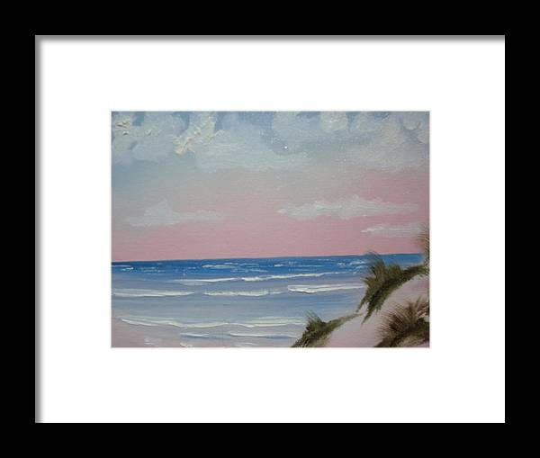Landscape Oil Beach Framed Print featuring the painting Surfside by Warren Thompson