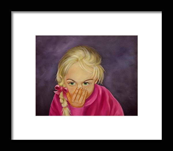 Portrait Framed Print featuring the painting Surprise by Joni McPherson
