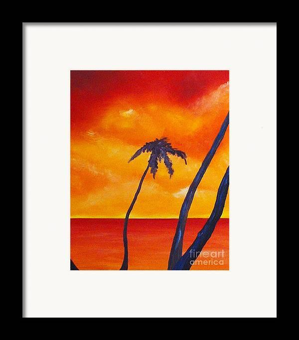 Sunrise Framed Print featuring the painting Surprise Sunrise by Joseph Palotas