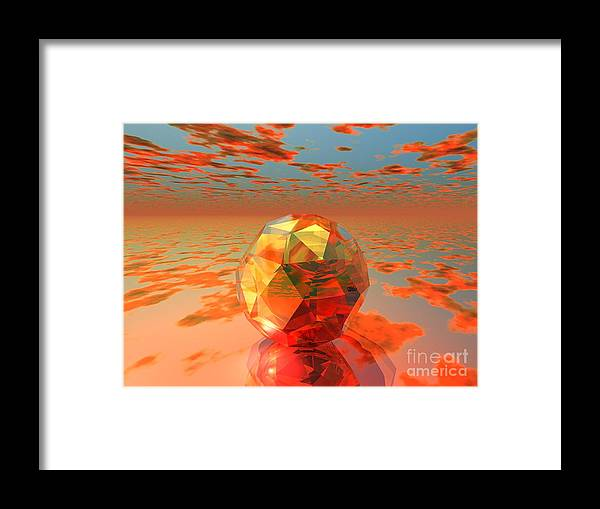Surreal Framed Print featuring the digital art Surreal Dawn by Oscar Basurto Carbonell