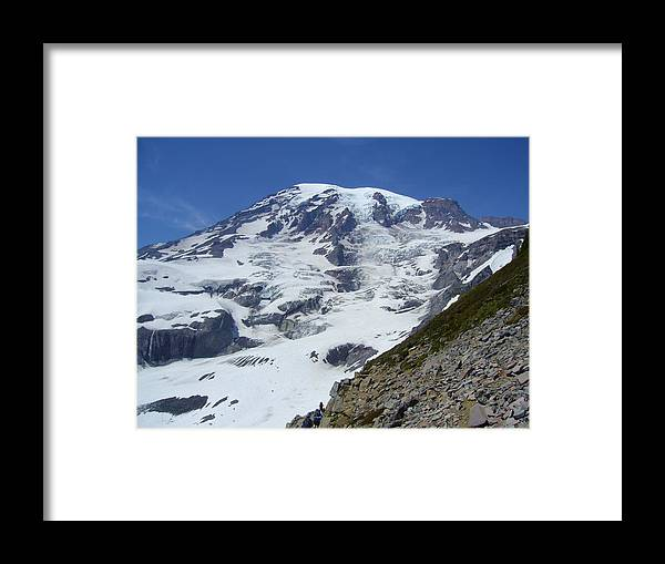 Mount Rainier Framed Print featuring the photograph Surreal by Mark Camp
