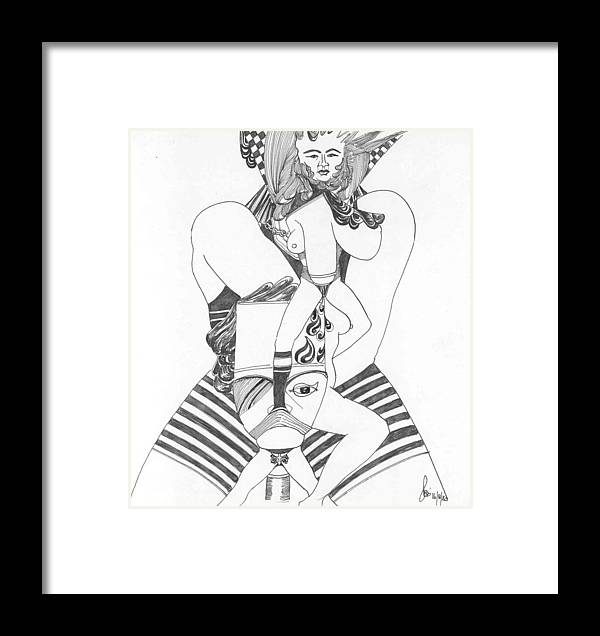 Shapes Framed Print featuring the painting Surreal Study by Padamvir Singh