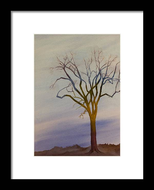 Surreal Framed Print featuring the painting Surreal Tree No. 1 by Debbie Homewood