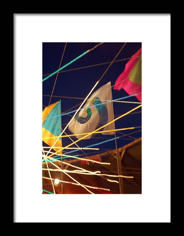 Flags Framed Print featuring the photograph Surreality by Heather S Huston