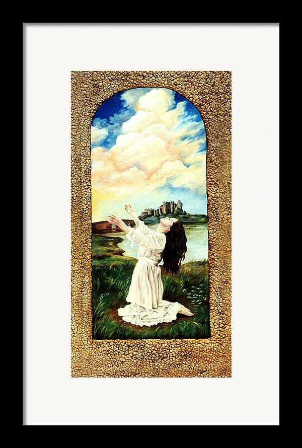 Christian Framed Print featuring the painting Surrender by Teresa Carter