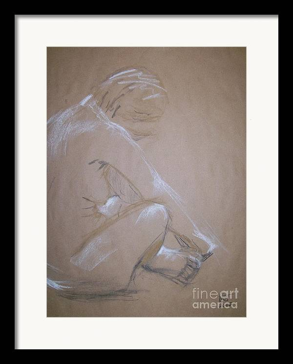 Figurative Framed Print featuring the painting Surrender by Tina Siddiqui