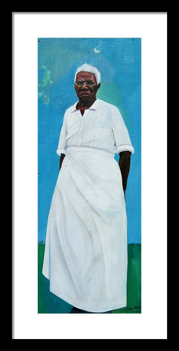 African Framed Print featuring the painting Survivor Spirit Emma by Joyce Owens