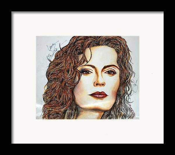 Actress Framed Print featuring the mixed media Susan Sarandon by Joseph Lawrence Vasile