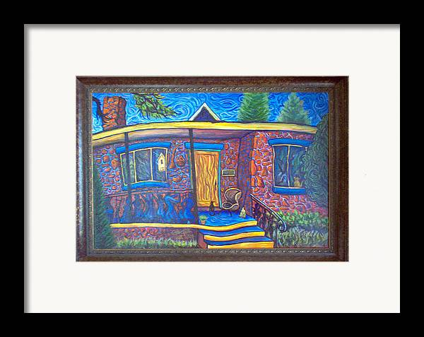 Landscape Framed Print featuring the painting Susan's House 2 by Steve Lawton