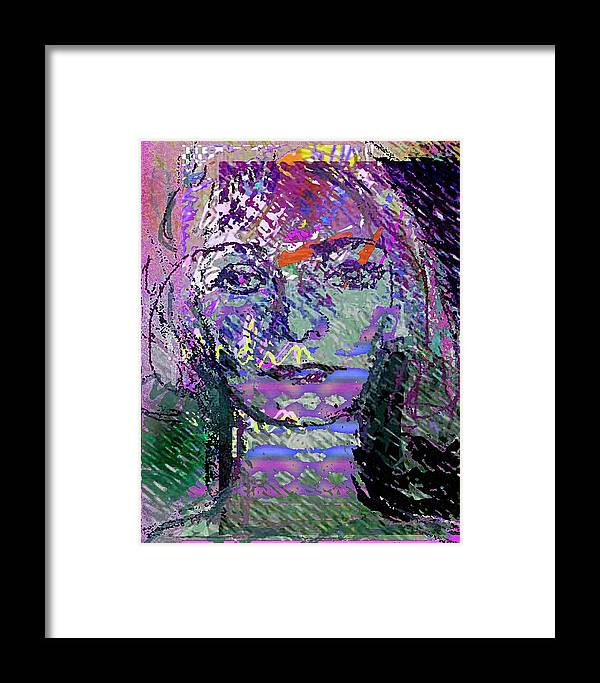 Expression Framed Print featuring the mixed media Susazan by Noredin Morgan