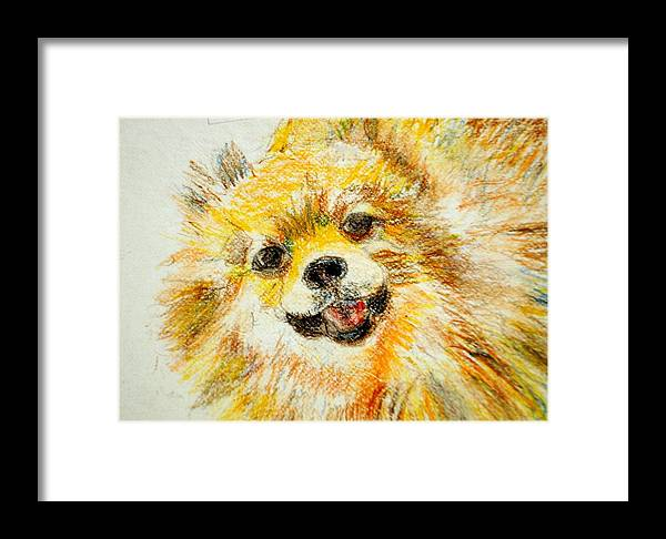 Sushi Framed Print featuring the drawing Sushi by Lessandra Grimley