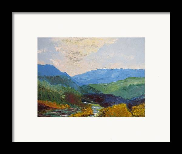 Landscape Framed Print featuring the painting Susquahanna by Belinda Consten