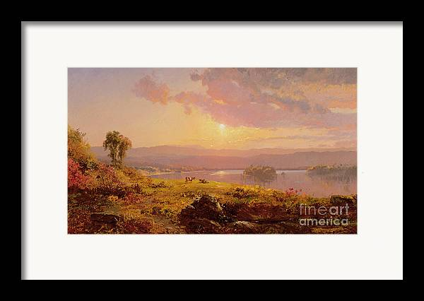 Susquehanna River Framed Print featuring the painting Susquehanna River by Jasper Francis Cropsey