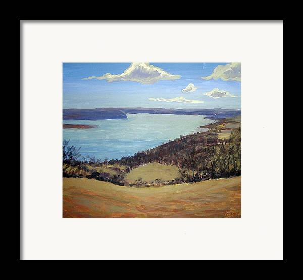 Landscape Framed Print featuring the painting Susquehanna River View by Evelynn Eighmey