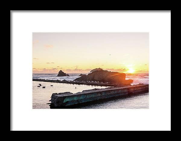 Sutro Baths Framed Print featuring the photograph Sutro Seagulls by Elizabeth Delgado