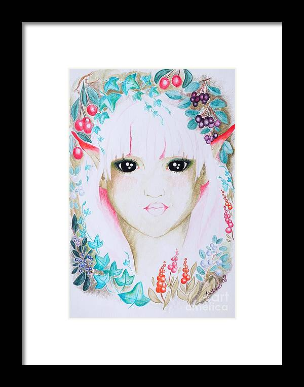 Fantasy Framed Print featuring the painting Suvi by Tiina Rauk