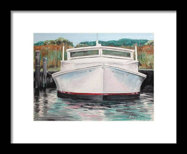 Nautica Framed Print featuring the painting Suzie Q by Stan Tenney