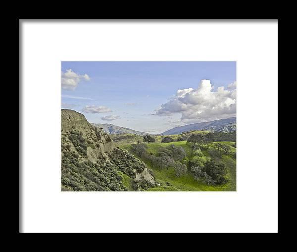 Landscape Framed Print featuring the photograph Swallow Bay Cliffs by Karen W Meyer