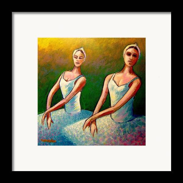 Swan Lake Ballet Framed Print featuring the painting Swan Lake I by John Nolan