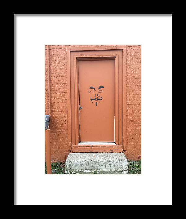 Graffiti Framed Print featuring the photograph Swann Door by Joseph Yarbrough