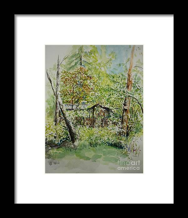 Trees Framed Print featuring the painting Sweden Landscape 1 by Lizzy Forrester