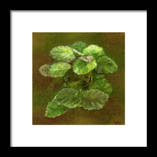 Houseplant Framed Print featuring the painting Swedish Ivy by FT McKinstry