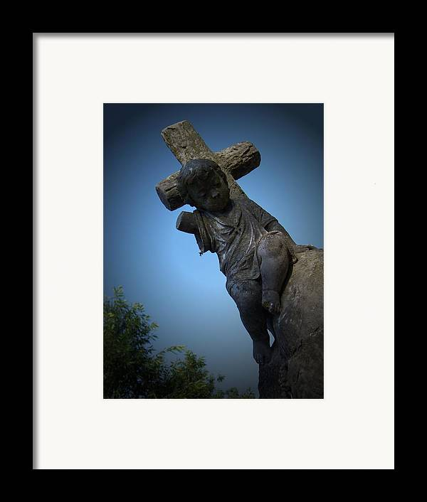 Gothic Framed Print featuring the photograph Sweet Angel by Jessica Burgett