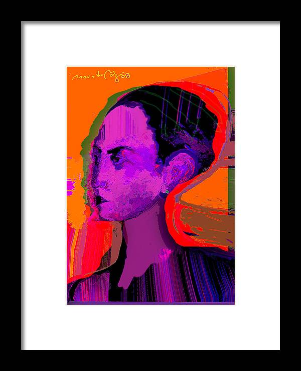Portrait Framed Print featuring the painting Sweet Anticipation by Noredin Morgan