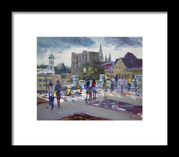 Sweet Framed Print featuring the painting Sweet Chalk Festival In Lockport by Ylli Haruni