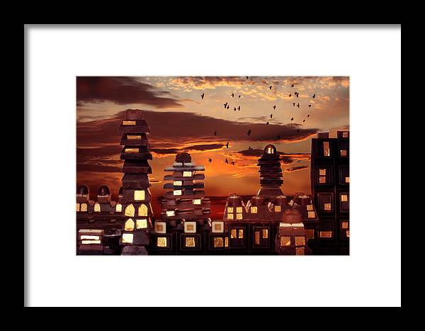 Chocolate Framed Print featuring the photograph Sweet Cityscape by Floriana Barbu