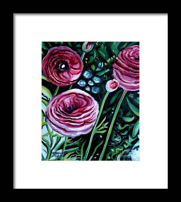 Garden Framed Print featuring the painting Sweet Delight by Elizabeth Robinette Tyndall