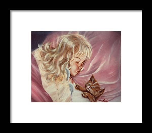 Portrait Framed Print featuring the painting Sweet Dreams by Joni McPherson