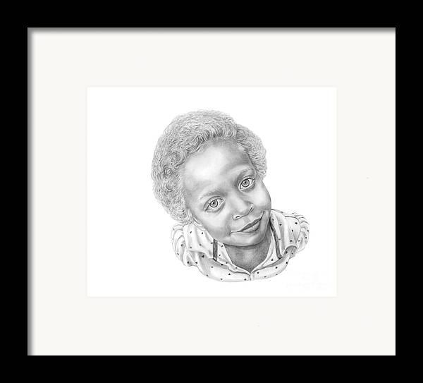 Portrait Framed Print featuring the drawing Sweet Eyes by Murphy Elliott