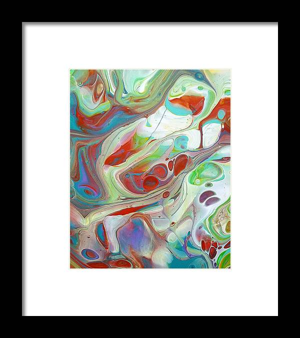 Abstract Framed Print featuring the painting Sweet Fragrance 2 by Rosa Lopez