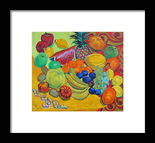 Fruits Framed Print featuring the painting Sweet Fruits by Vitali Komarov