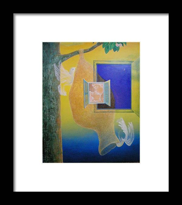Romantic Framed Print featuring the painting Sweet Home by Raju Bose