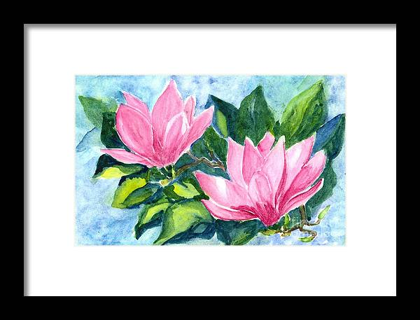 Flower Framed Print featuring the painting Water Lily by Carol Wisniewski