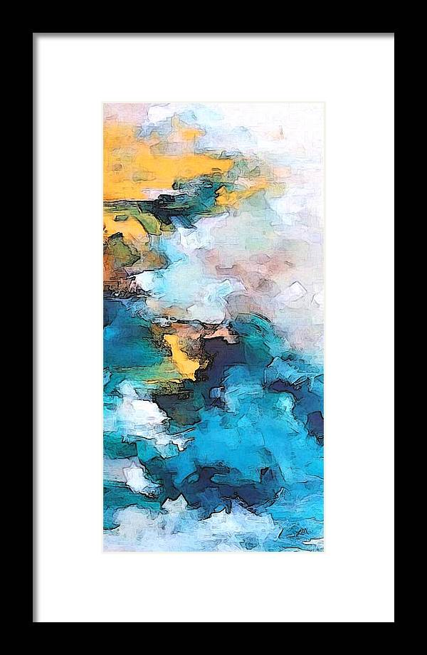 Abstract Framed Print featuring the digital art Sweet Memory Shades by Linda Mears