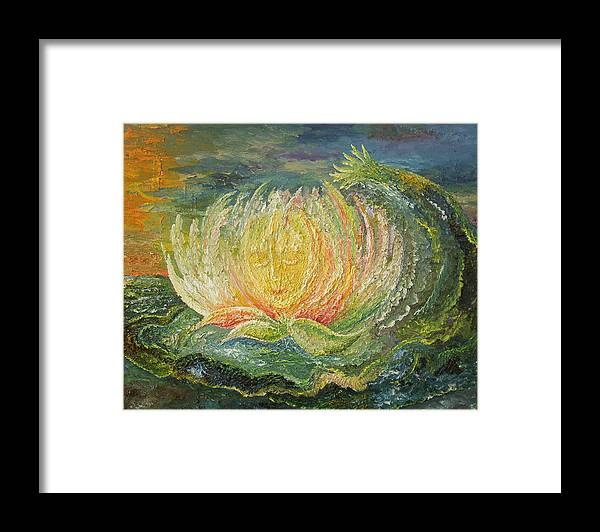 Flower Framed Print featuring the painting Sweet Morning Dream by Karina Ishkhanova