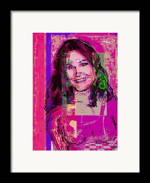 Portrait Framed Print featuring the painting Sweet Nat by Noredin Morgan