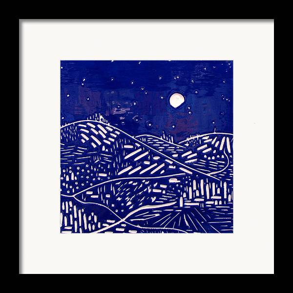Fantasy Framed Print featuring the relief Sweet Night by Jason Messinger